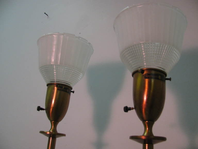 Mid-20th Century Pair of Mid Century Tall Rembrandt Table Lamps For Sale