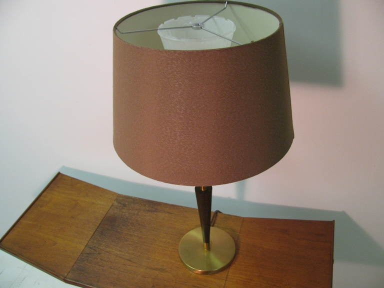 Pair of Mid Century Tall Rembrandt Table Lamps For Sale 3