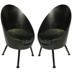 Pair Of Modernist Italian Chairs Style of Ico Parisi