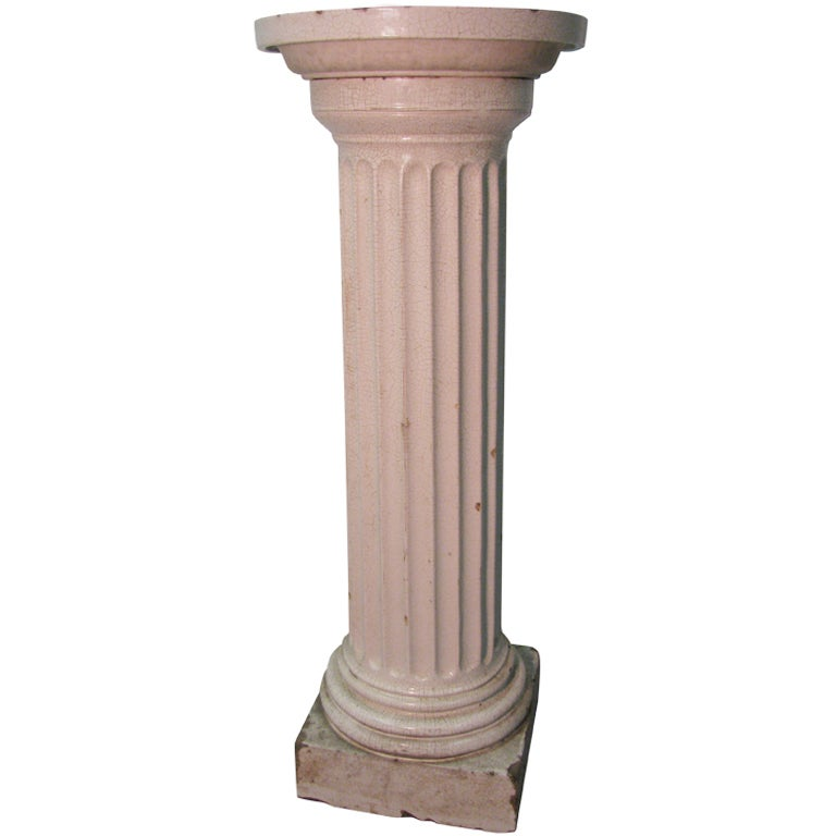 19th Century Birdbath / Plant Stand in The Form of a Fluted Doric Column