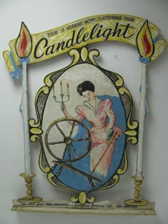 Hand Painted Advertising Trade Sign, Hudson Valley N.Y., Folk Art