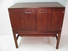 Jens Risom Mid-Century Modern Walnut Cabinet Credenza
