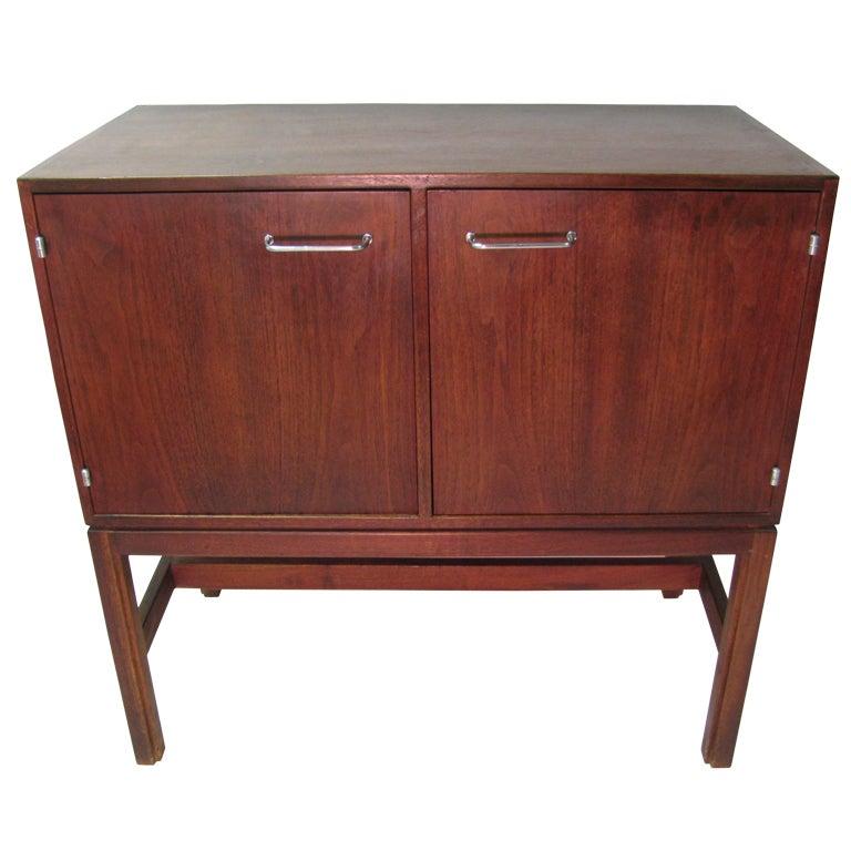 Jens Risom Mid-Century Walnut Cabinet or Sideboard