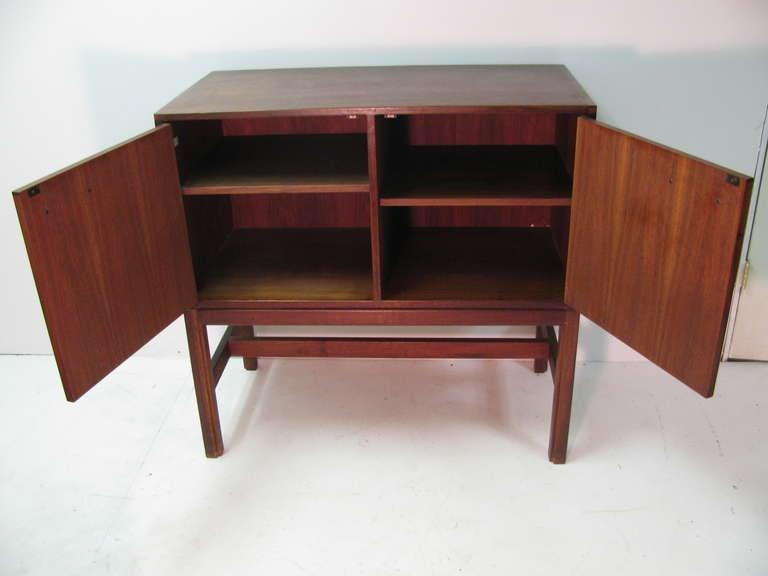 American Jens Risom Mid-Century Modern Walnut Cabinet Credenza For Sale