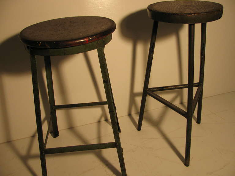Industrial Machine Shop Stools At 1stdibs