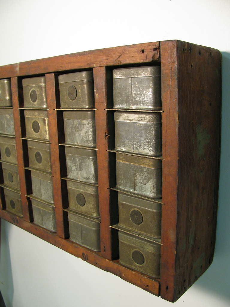 Industrial Machine Shop Wall Apothecary Cabinet At 1stdibs