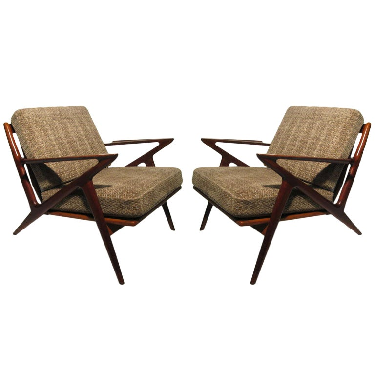 Pair Of Poul Jensen Z Chairs For Selig At 1stdibs