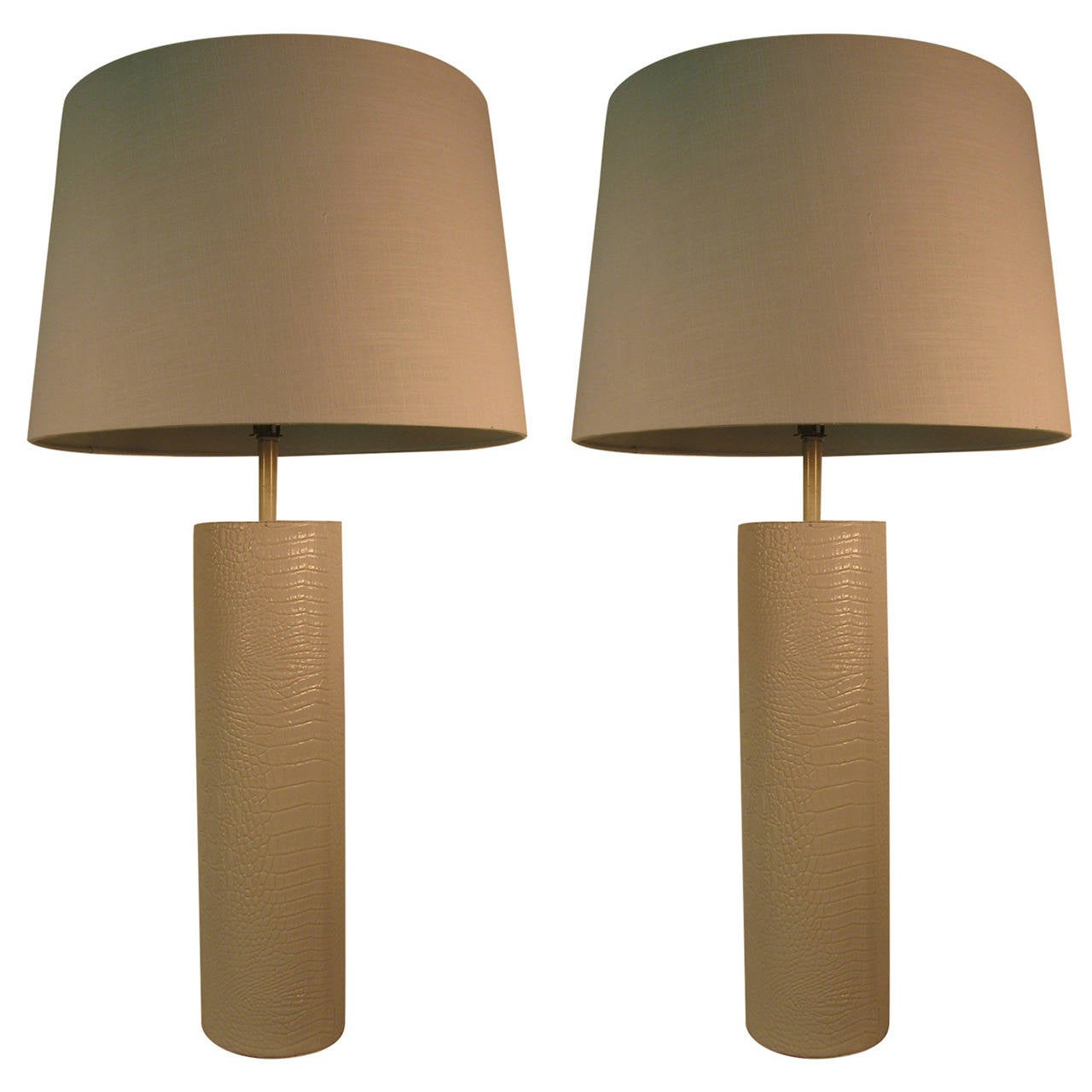 Pair of Faux Crocodile Table Lamps