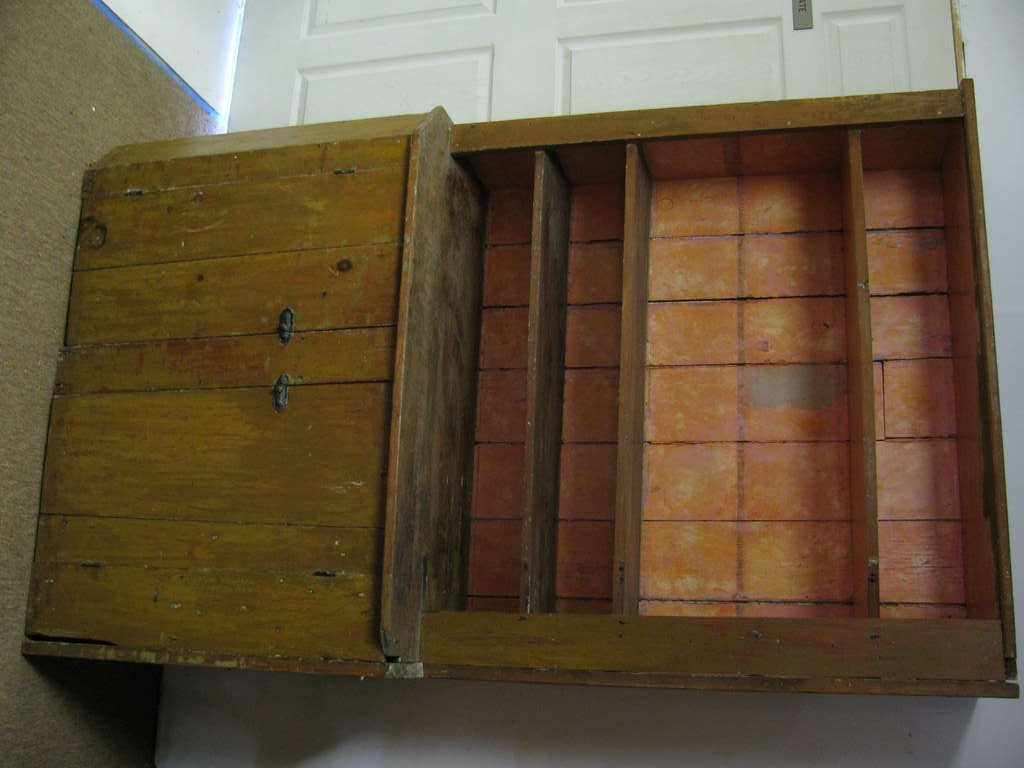 Early 19th C Primitive New York State Stepback Cupboard