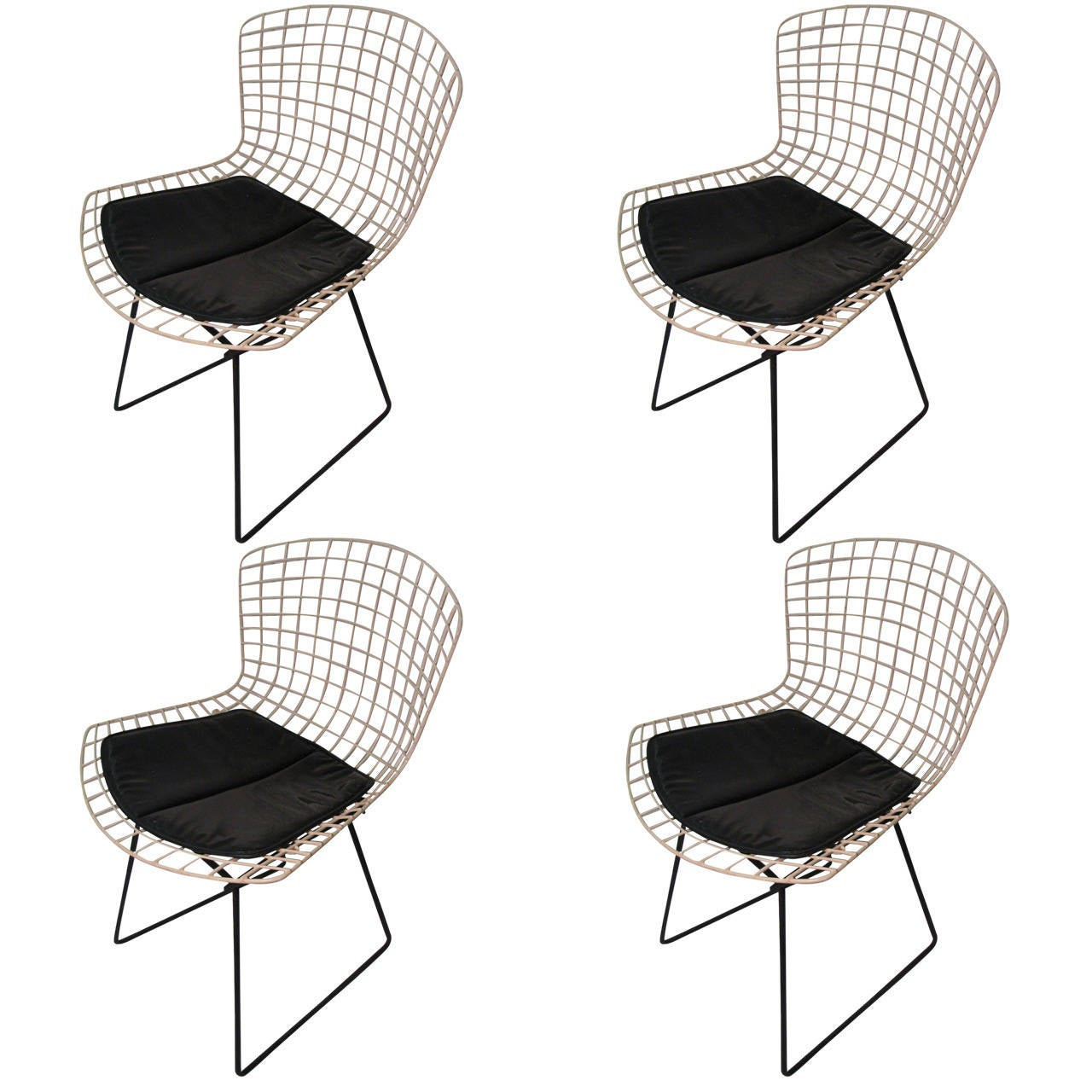 Harry Bertoia For Knoll Diamond Lounge Chairs, Pair At 1stdibs