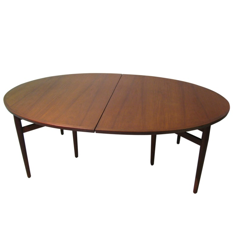danish mid century oval dining conference table arne vodder at
