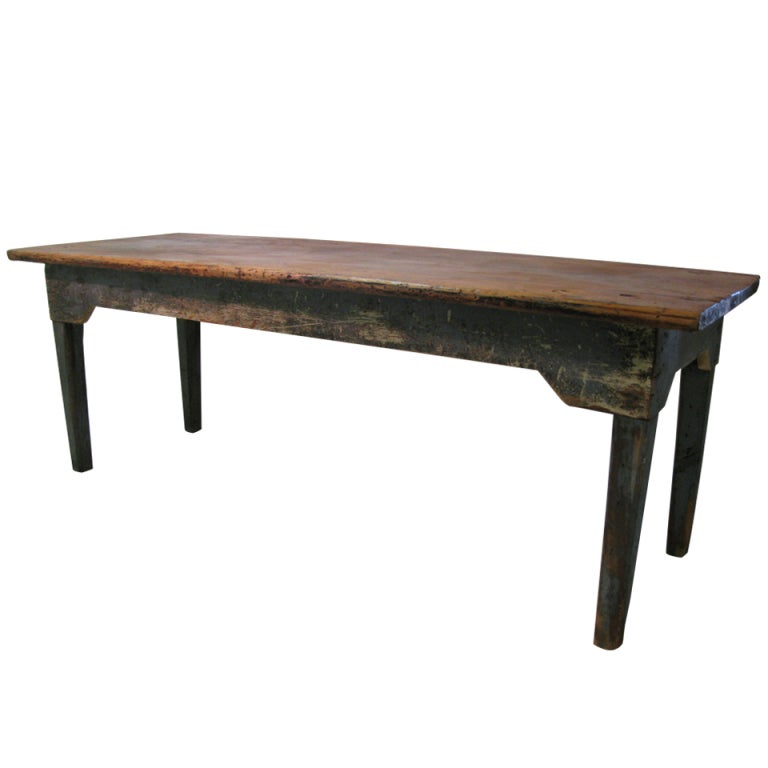 19th c new york state pine farm dining table at 1stdibs for Table new york