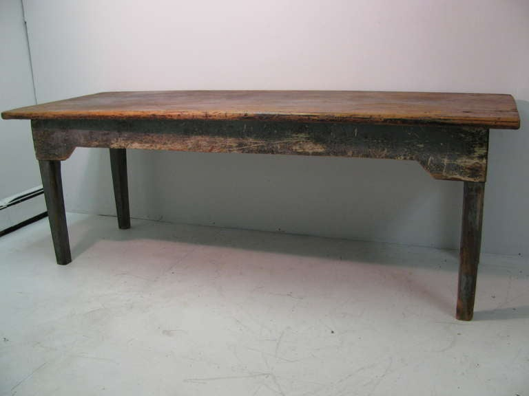 Th c new york state pine farm dining table at stdibs