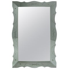 Large Elegant Hollywood Regency Venetian Mirror, circa 1940