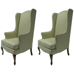 Pair of Petite Wingback Armchairs