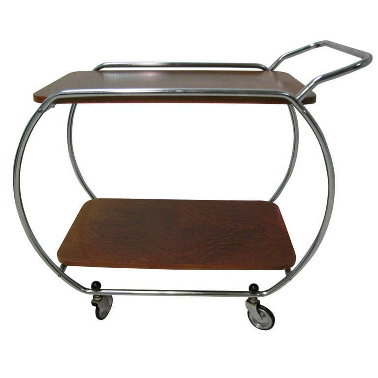 Bauhaus Art Deco Modernist Bar Cart For