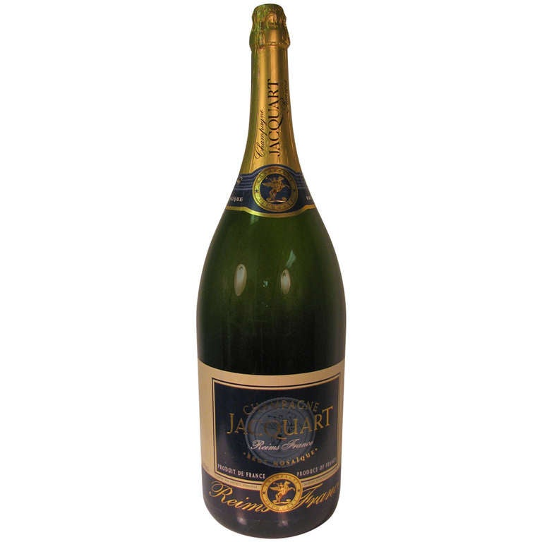 Large Glass French Champagne Prop Bottle At 1stdibs