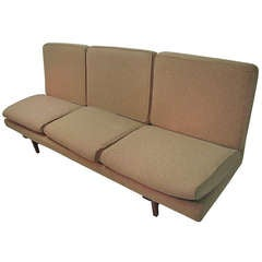 Jens Risom Danish Mid-Century Modern Open End Sofa