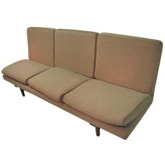 Jens Risom Danish Mid-Century Modern Bracketed Back  Open End Sofa