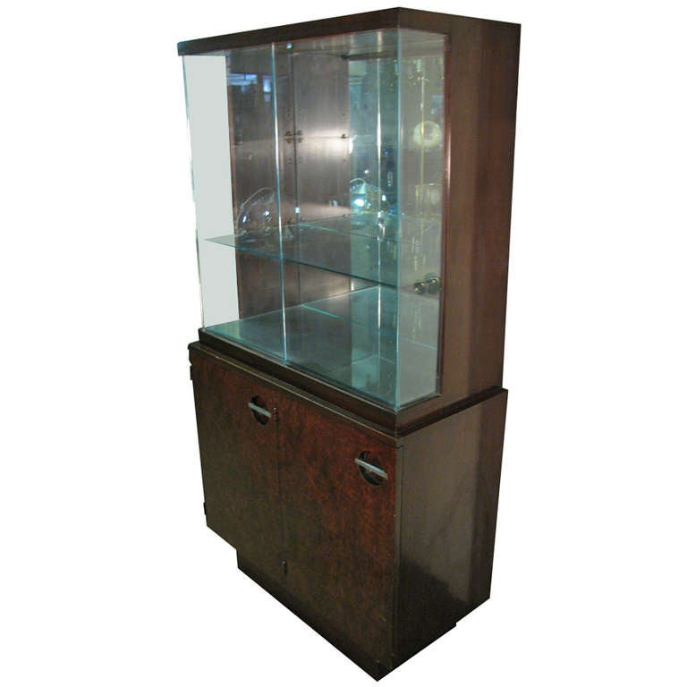 Gilbert Rohde Streamlined Art Deco Tall Cabinet