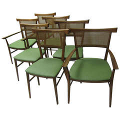 Set of Seven Paul McCobb Winchendon Perimeter Group Bow Tie Dining Chairs