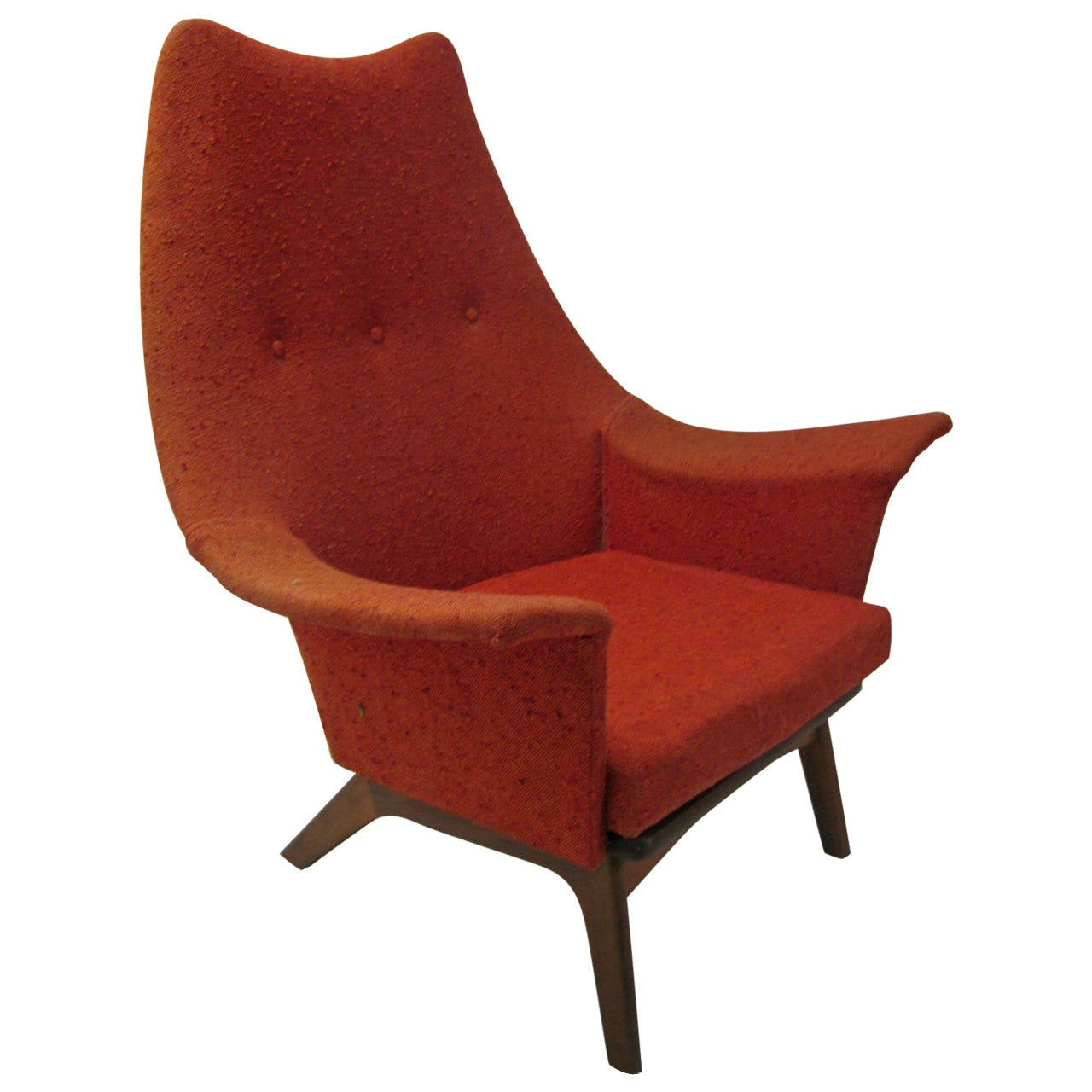 Mid-Century Modern Wing Chair By Adrian Pearsall For Sale
