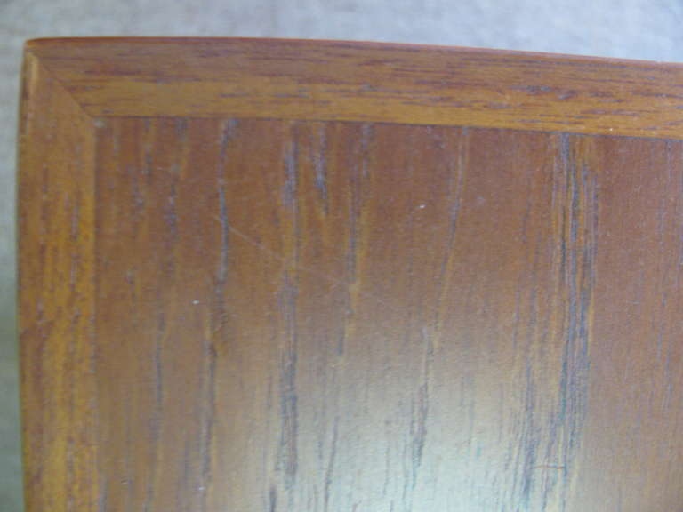 Mid-20th Century Mid Century Modern Teak Parsons Style Dining Room or Conference Table For Sale