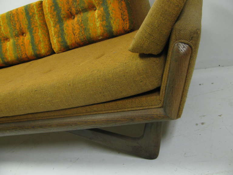 American Adrian Pearsall Mid-Century Gondola Sofa For Sale