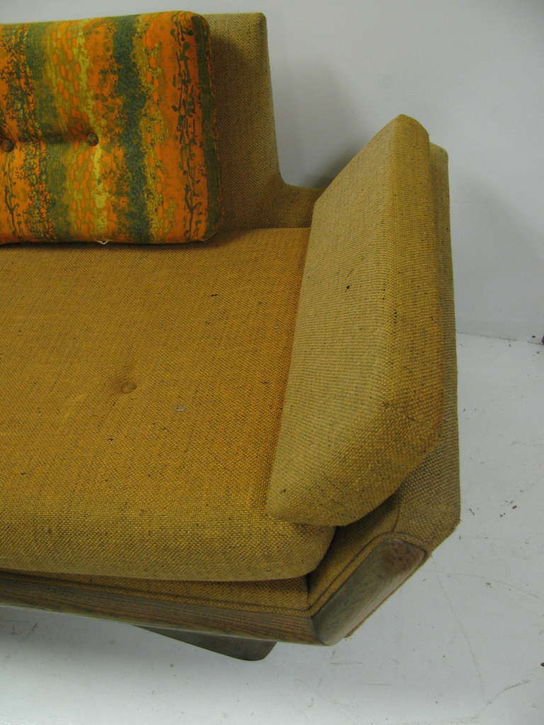 Adrian Pearsall Mid-Century Gondola Sofa In Good Condition For Sale In Port Jervis, NY