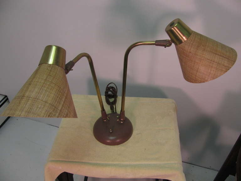 American Mid-Century Modern Table or Desk Lamp by Prescolite For Sale