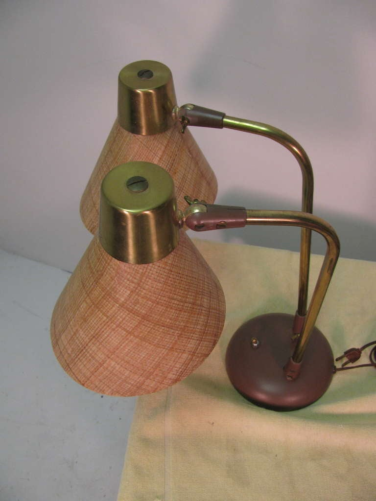 Mid-Century Modern Table or Desk Lamp by Prescolite For Sale 2