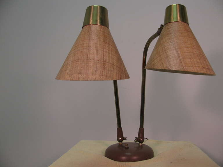 Mid-Century Modern Table or Desk Lamp by Prescolite For Sale 1