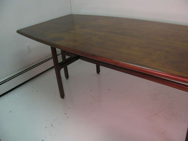 Jens risom mid century modern dining room conference for Dining room table 32 wide