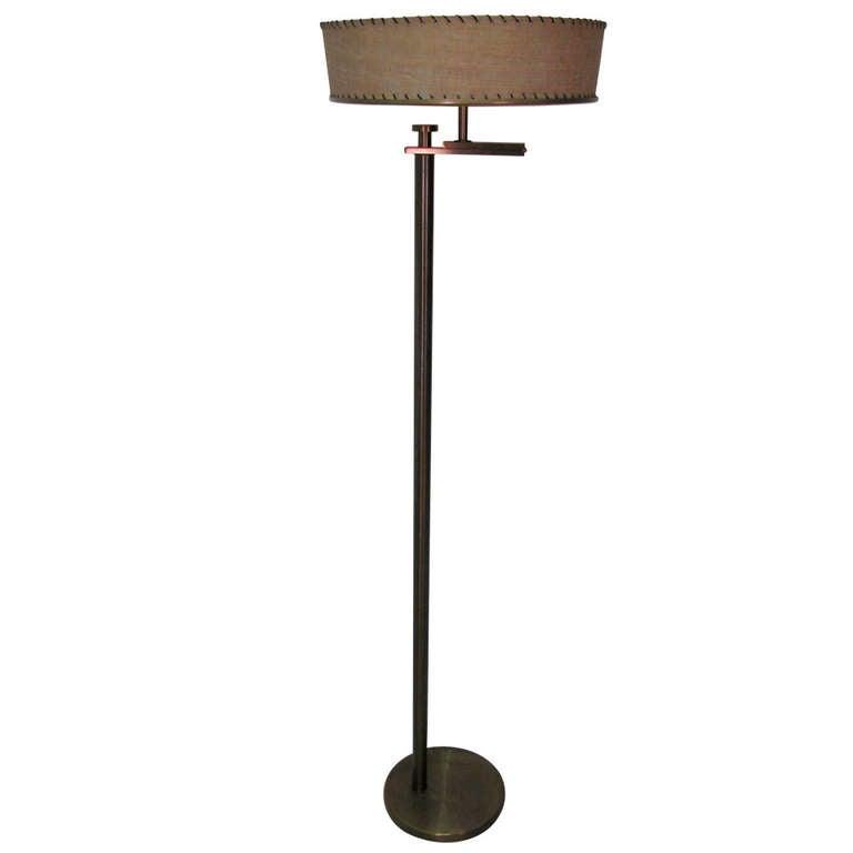 mid century modern kurt versen flip floor lamp at 1stdibs. Black Bedroom Furniture Sets. Home Design Ideas