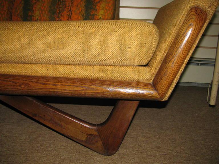 Oak Adrian Pearsall Mid-Century Gondola Sofa For Sale