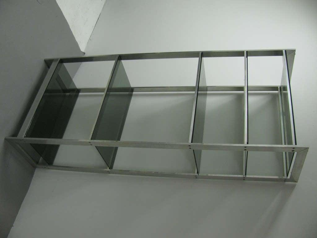 Mid century modern aluminum and glass etagere style of paul mayen at 1stdibs - Etagere aluminium design ...