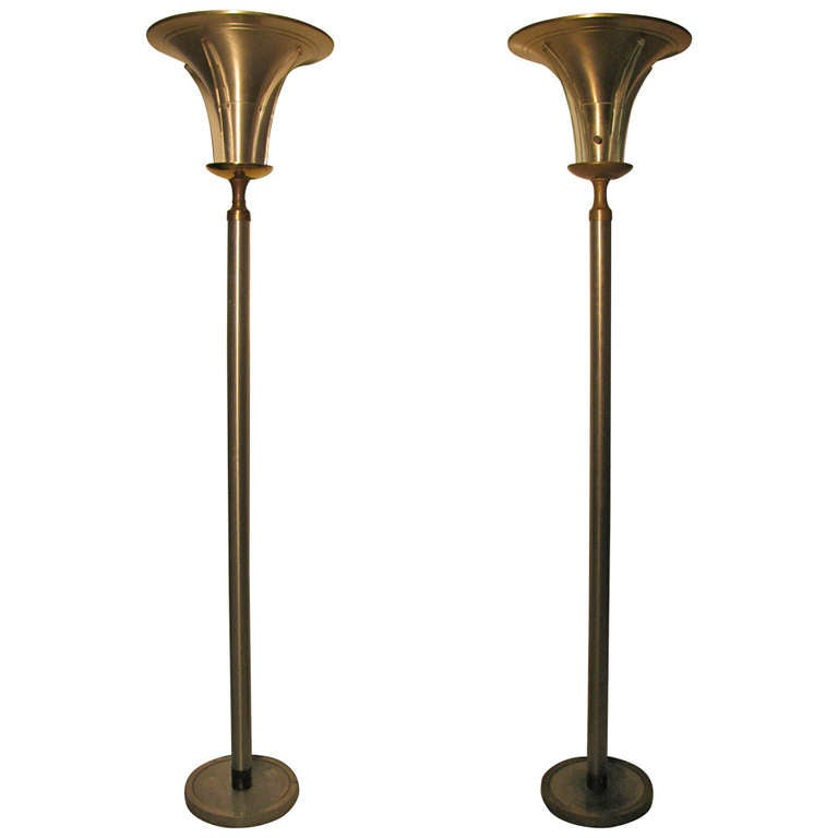 etagere floor lamp bed bath and beyond torchiere with metal shade led pair of art deco lamps