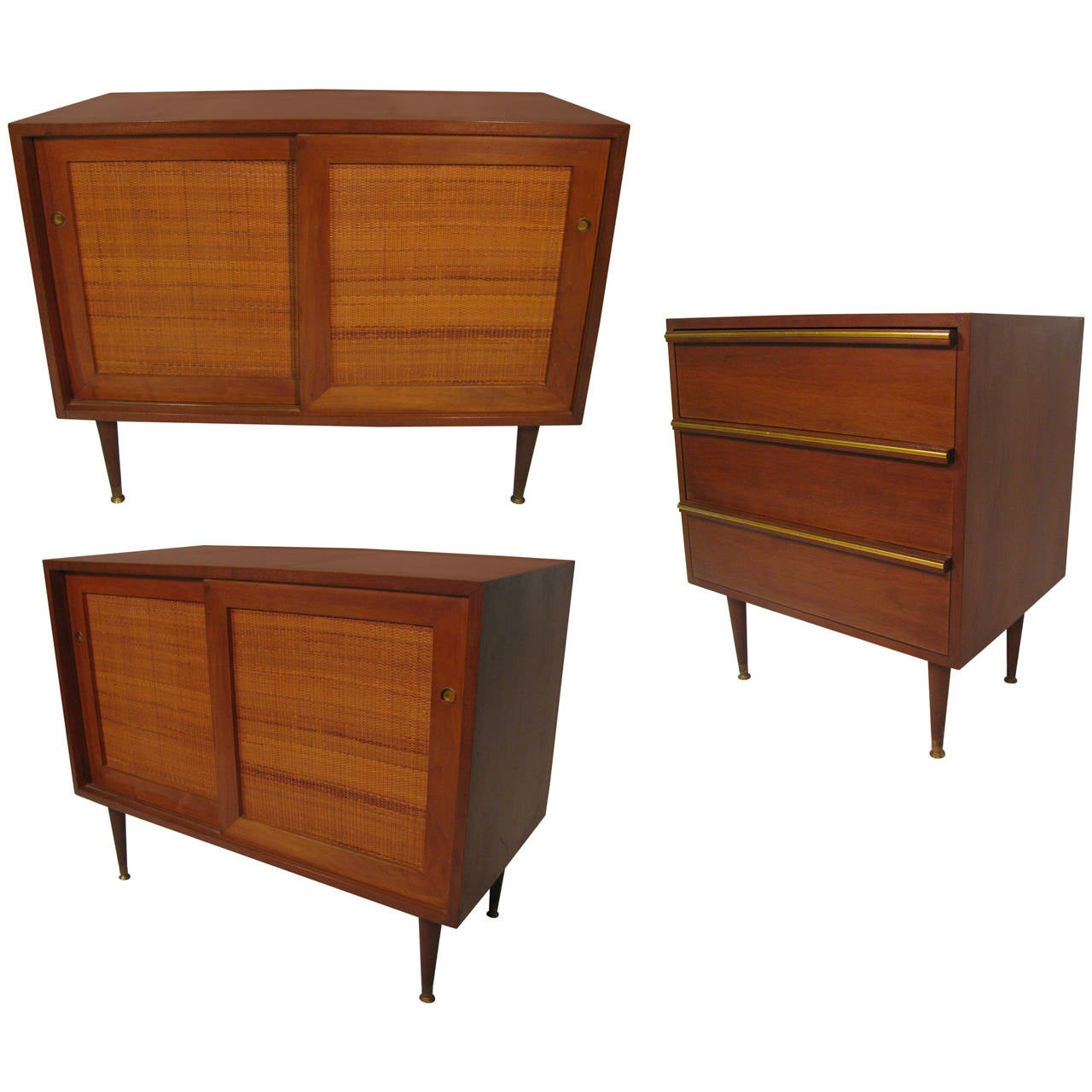 Mid Century Modern Split Level 1956 Edition Better Homes: Mid-Century Modern Three-Piece Cabinet System For Sale At