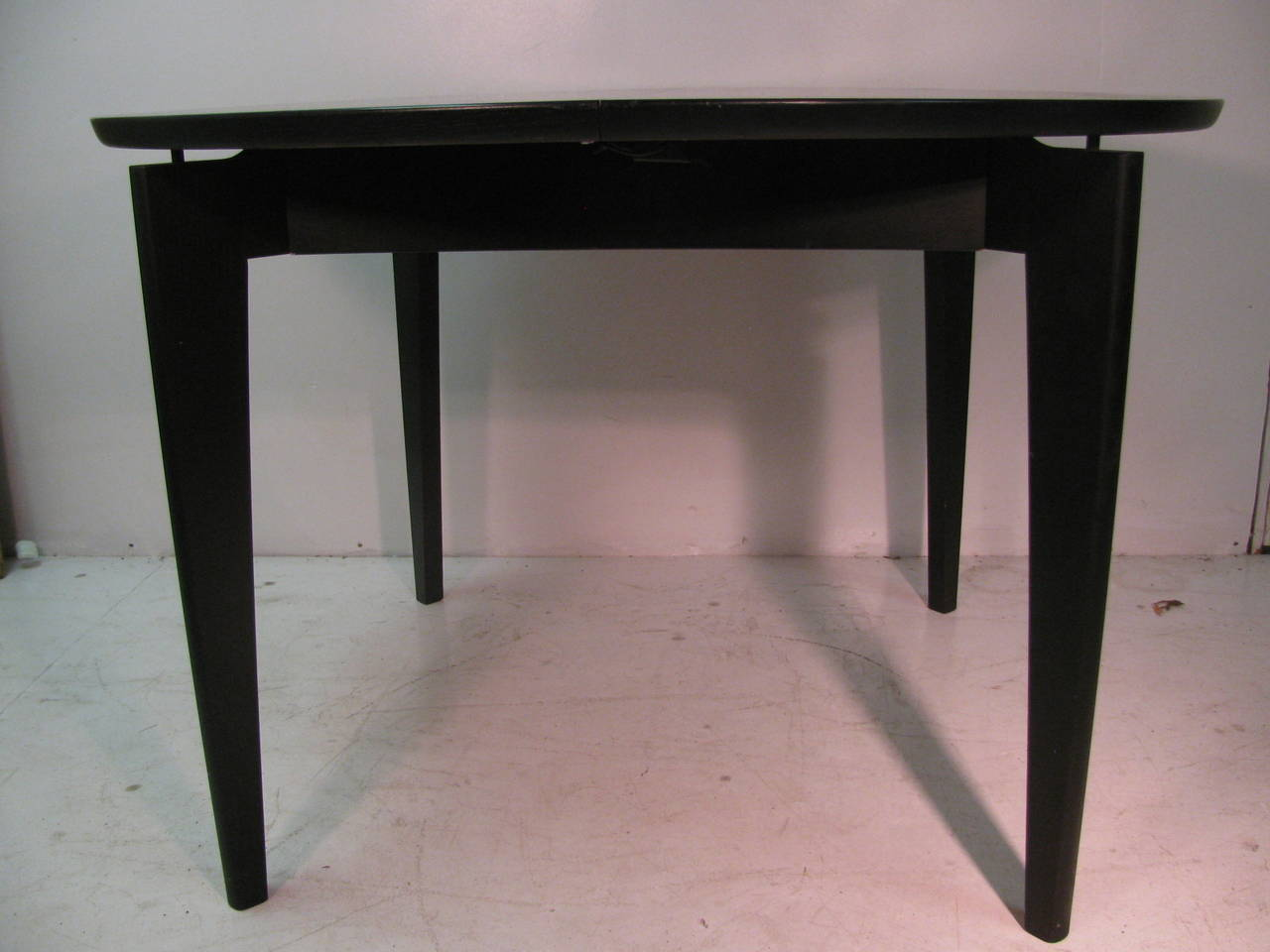 Mid Century Modern Ebonized Oak Extension Dining Table by Skovby
