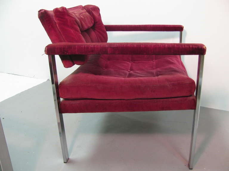Mid-Century Modern Pair of Midcentury Lounge Chairs by Harvey Probber For Sale