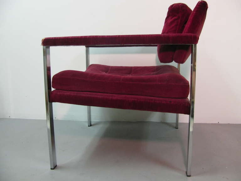 Pair of Midcentury Lounge Chairs by Harvey Probber In Good Condition For Sale In Port Jervis, NY