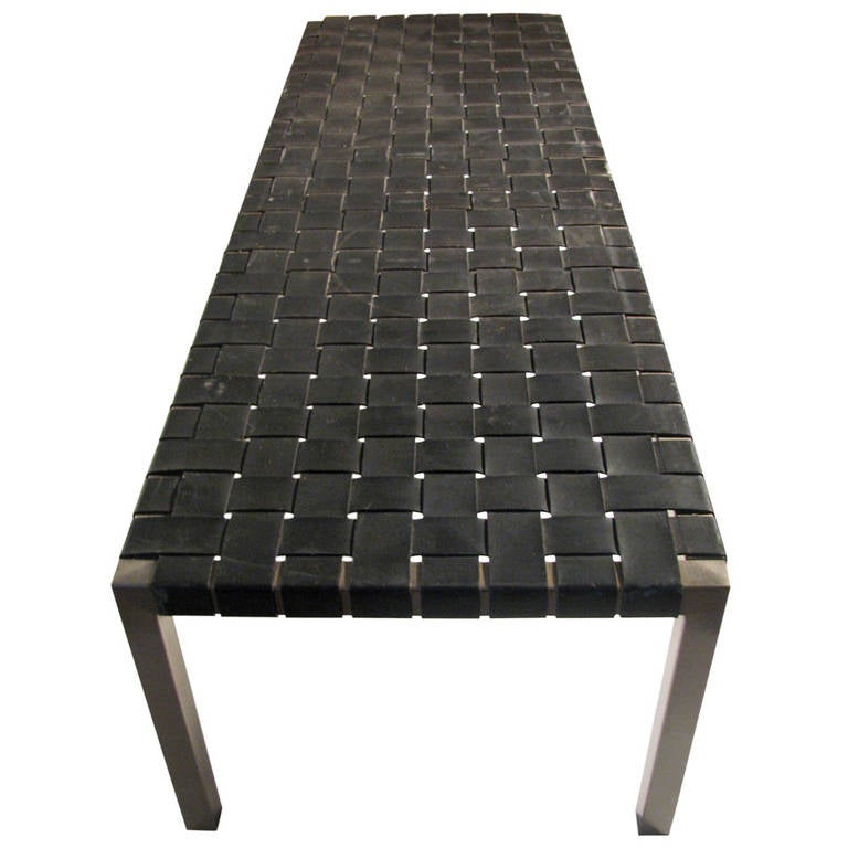 Ralph Lauren Woven Leather Bench Or Cocktail Table At 1stdibs