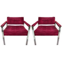 Pair of Midcentury Lounge Chairs by Harvey Probber