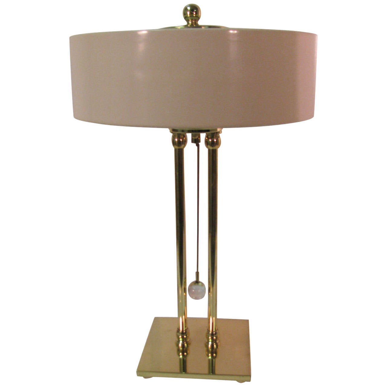 Mid Century Modernist Brass Desk Table Lamp