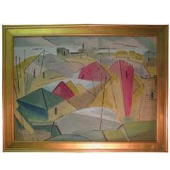 Buffalo Artist James Koenig 1948 Titled 'Tangent'