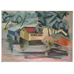 Buffalo Artist James Koenig Mid Century 1948 Titled, Cool Canopy