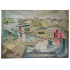 Buffalo Artist James Koenig 1948 Titled 'Net Work'