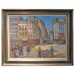 Paris Street Scene 1912 by Artist Albert Abramovitz
