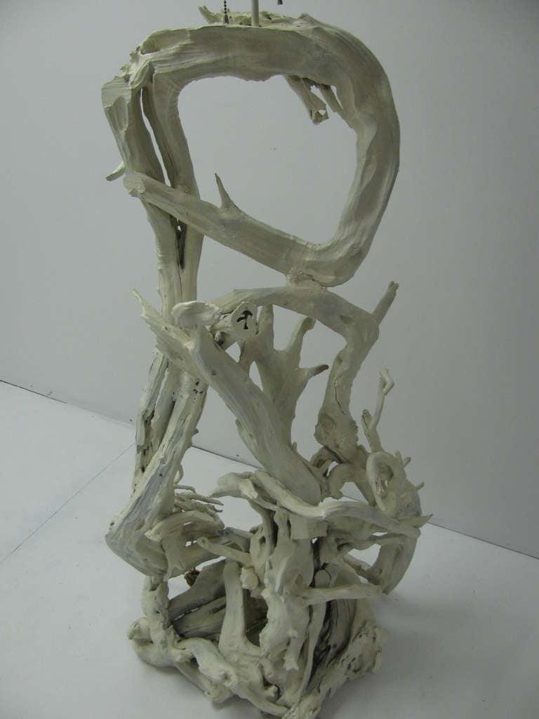 amazing sculptural driftwood floor lamp for sale at 1stdibs. Black Bedroom Furniture Sets. Home Design Ideas