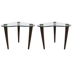 Mid Century Pair of Cloud Form Side Tables By Gilbert Rohde